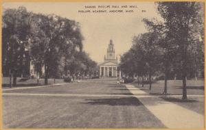 Andover, MASS., Phillips Academy, Samuel Phillips Hall and Mall