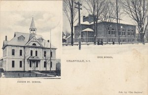GRANVILLE, New York, PU-1907; Church and High School