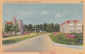 Georgia Atlanta Entrance To Oglethorpe University