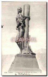 Old Postcard Paris Monument of Chevalier de la Barre