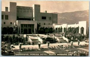 Santa Barbara, CA RPPC Real Photo Postcard SAMARKAND PERSIAN HOTEL c1920s