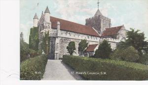 Rye , England ,PU-1908 ; St Mary's Church S.W.