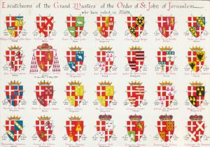 Coat of Arms , Grand Master of the Order of St John . MALTA , 50-70s