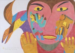 Baker Lake , Nunavut , Canada , 1986 ; Artist Francoise Oklaga ; Naming the ...