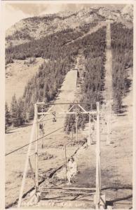 RP, BANFF, Alberta, Canada, 1920-1940s; Chair Lift, Byron Harmon
