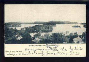 Lake Sunapee, New Hampshire/NH Postcard, Aerial View Of Lake, 1906!