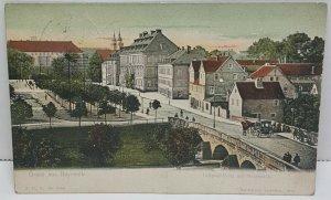 Luitpold-Platz mit Marnbruck Gruss aus Bayreuth Germany 1906 Vintage Postcard