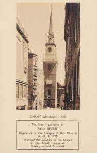 RP; Signal Lanterns of Paul Revere displayed in the staple of Christ Church, ...