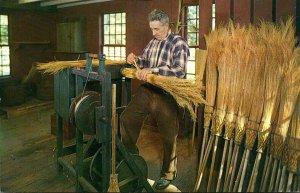 Massachusetts Old Sturbridge Village The Broommaker At Work
