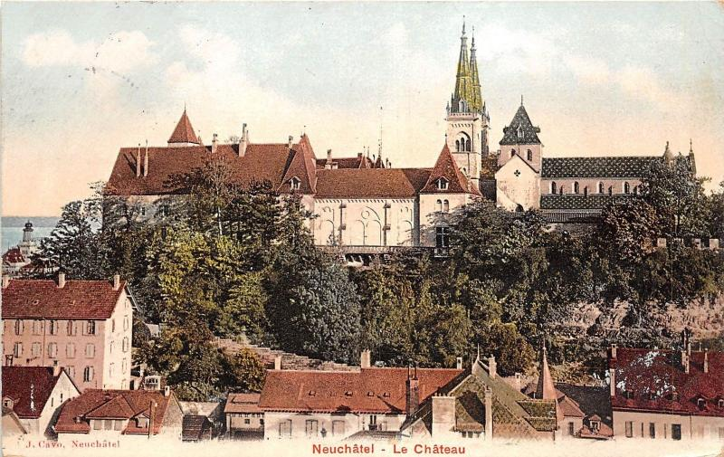 B44265 Neuchatel le chateau panorama  switzerland