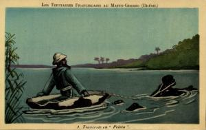 brazil, MATTO GROSSO, The Tertiary Franciscans Mission, Crossing Pelota (1930s)