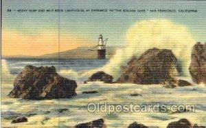 Mile Rock, San Francisco, CA Light House, Houses Lighthouse, Postcard Postcar...