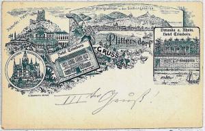 Ansichtskarte  VINTAGE POSTCARD: GERMANY -   Plittersdorf 1897