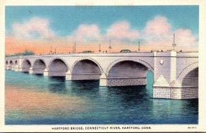 Connecticut Hartford The Hartford Bridge Over Connecticut River Curteich