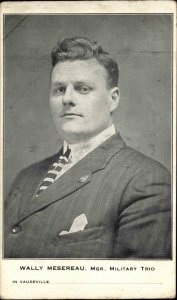 Vaudeville Wally Mesereau Manager Military Trio c1910 Postcard