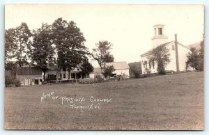 Postcard VT Plymouth President Collidge's Boyhood Home Pre 1920 RPPC Photo B21