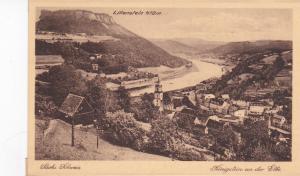 SWITZERLAND, 1900-1910's; Lilienstein, SachsSchweix , Konigstein an der Elbe