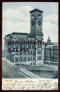 493 - TACOMA Washington Postcard 1907 City Hall