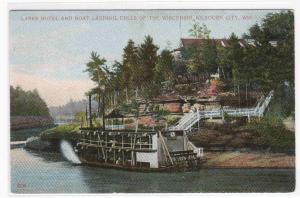 Paddle Steamer Kilbourn City Wisconsin Dells 1910c postcard