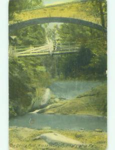 Unused Divided-Back BRIDGE SCENE Philadelphia Pennsylvania PA HJ0311