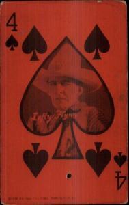 Cowboy Actor Lefty Flynn Exhibit Arcade Card Playing Card 4 of Spades
