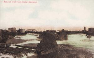 Middle Or Upper Falls, Bridge, SPOKANE, Washington, 1900-1910s