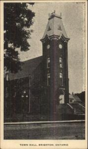 Brighton Ontario Town Hall Postcard