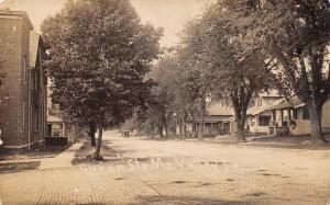 Missouri Valley Iowa~Huron Street Homes~Cobblestones~c1912 Real Photo Postcard