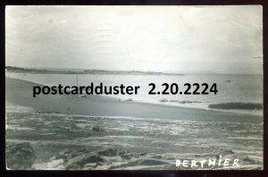 2224 - BERTHIER Quebec 1940 Beach View. Real Photo Postcard