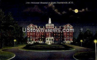 Veterans' Hospital Fayetteville NC Writing on back