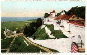 Michigan Mackinac Island South Parapet Fort Mackinac Detroit Publishing