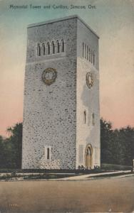 SIMCOE , Ontario , 1925 ; Memorial Tower & Carillon