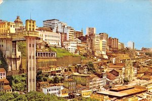 Vista Parcial C Elevador Lacera Salvador Brazil, Brasil Writing on back