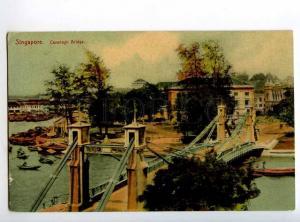 247930 SINGAPORE Cavenagh bridge 1909 year RPPC