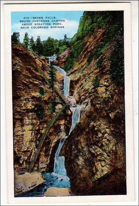CO - Seven Falls, South Cheyenne Canyon, Colorado Springs