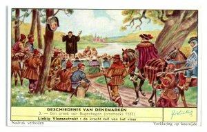 A Sermon from Bugenhagen, History of Denmark Liebig Belgian Trade Card *VT28D
