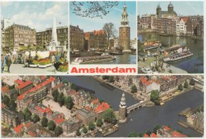 Amsterdam, Netherlands, multi view, used Postcard