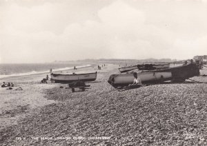 Fishing Boats at Thorpeness Beach Vintage Essex Real Photo Postcard