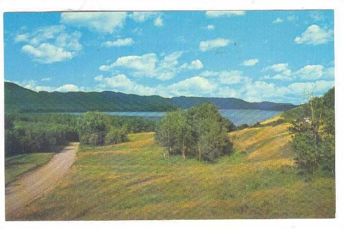 Large and Beautiful Lake Covering 91 Square Miles, Francois Lake, Highway 16,...