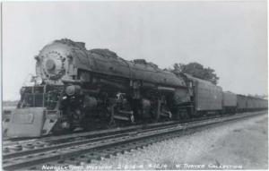 RPPC Norfolk & Western Railroad #1219, 2-8-8-4 Steam Locomotive, Kodak Paper RP