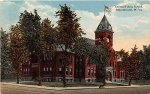 F23 Moundsville West Virginia Postcard 1915 Central Public School 23