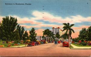 Florida Bradenton Entrance Looking South 1958