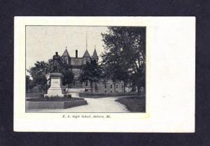 AUBURN MAINE ME Edward Little High School Postcard UDB