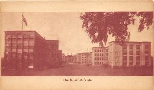 Dayton Ohio~NCR Vista~National Cash Register~Rows of Buildings~c1910 Sepia Pc