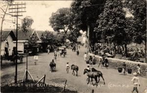 INDONESIA PC DUTCH INDIES - Groet uit Buitenzorg - Pasar (a1725)