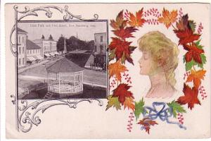 Patriotic with Beautiful Woman, Lion Park, Peel Street, New Hamburg, Ontario