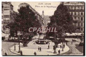 Lyon - Place de la Republique Old Postcard