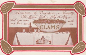 PROVIDENCE , Rhode Island , 1900-10s ; Old Home Week , Clams