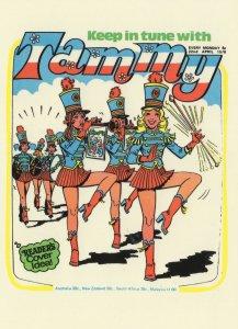 Brass Band Cheerleaders Tammy 1970s Girls Comic Book Postcard