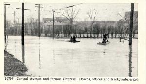 KY - Louisville. 1937 Flood. Central Ave & Churchill Downs